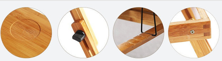 Бамбуковый столик для ноутбука с охлаждением, фото 3