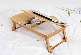 Бамбуковый столик для ноутбука с охлаждением, фото 2