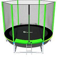 Батут FunFit 8 FT 252 см PRO зеленый