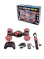 STUNT CAR: Радиоуправляемая  трюковая машинка со светом и звуком, красный (86А) 1202850