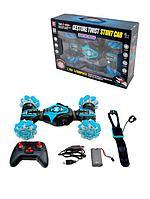 STUNT CAR: Радиоуправляемая  трюковая машинка со светом и звуком, синий (86А) 1202851