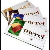 """Merci """"Молочный шоколад"""" 4 индивидуально упакованные плитки Ассорти вкусов"""