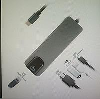 USB Type-C Adapter (HDMI 4K,USB C, USB 3.0, Gigabit Rj45 Lan)