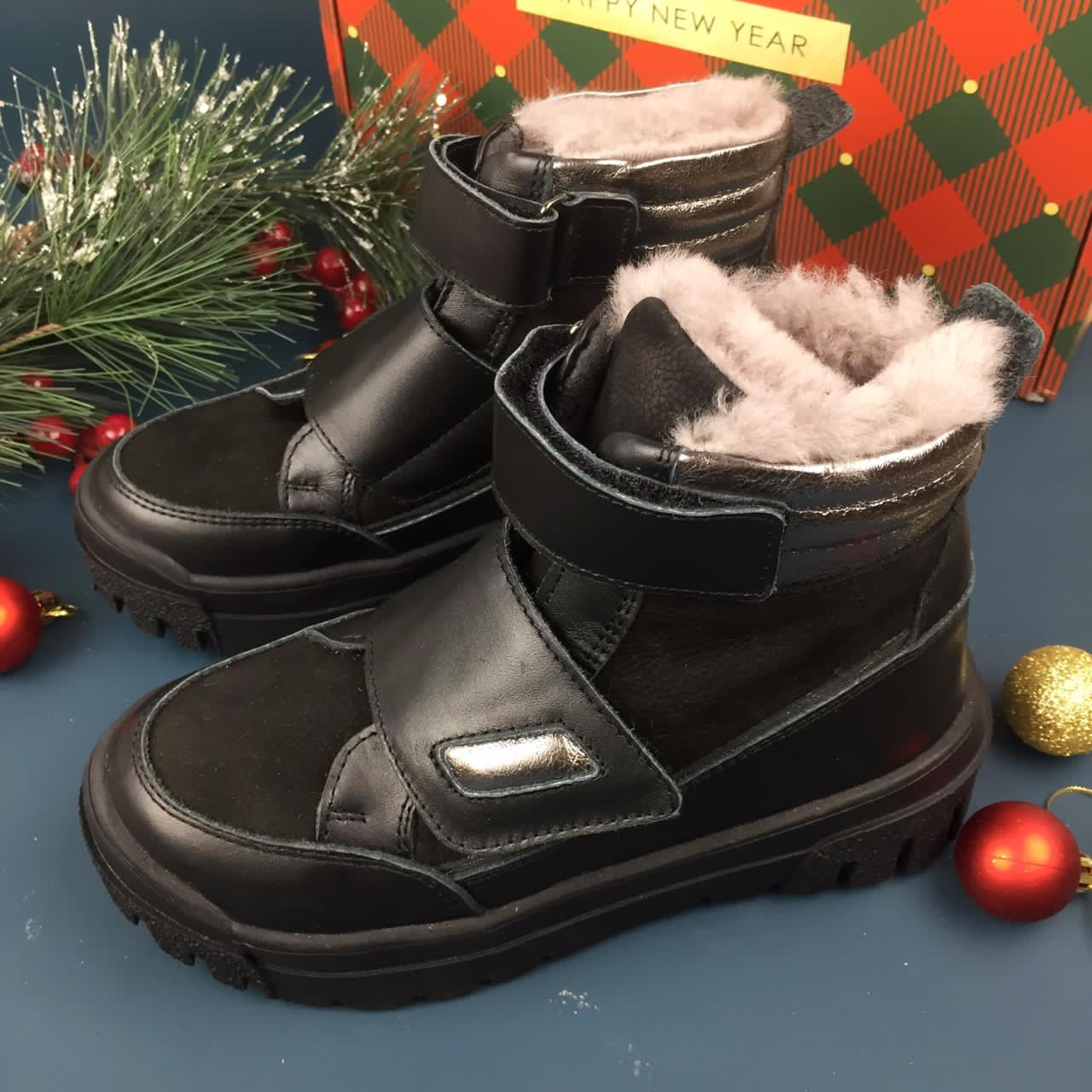 MINICAN обувь зимняя ботинки натуралка замша кожа цигейка