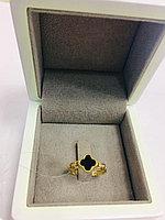 """Кольцо / """"Ванклиф"""" / жёлтое золото -17.5 размер"""