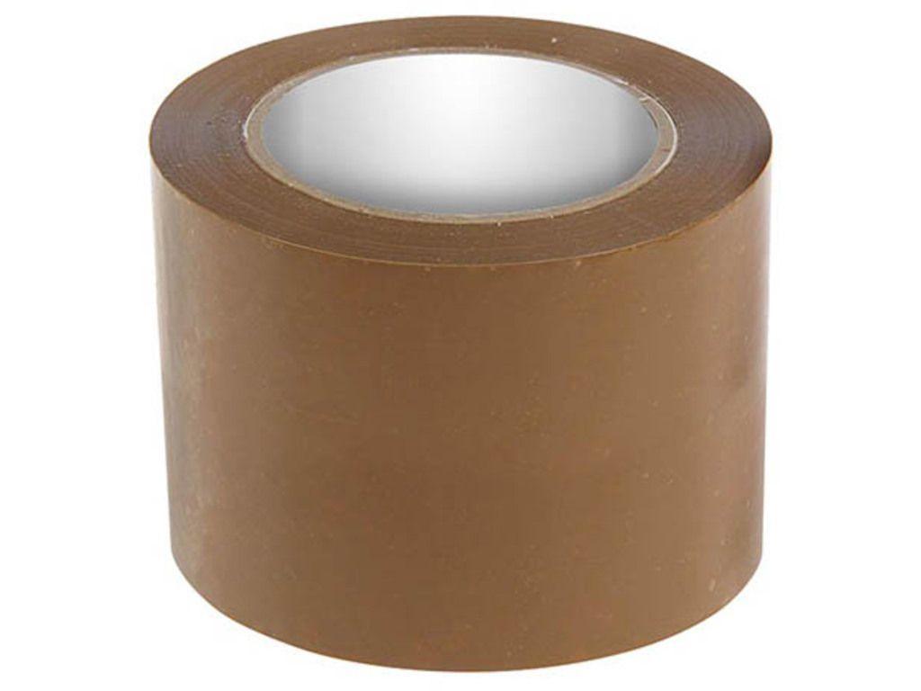 Клейкая лента упаковочная 80 мм х 66 м, коричневая
