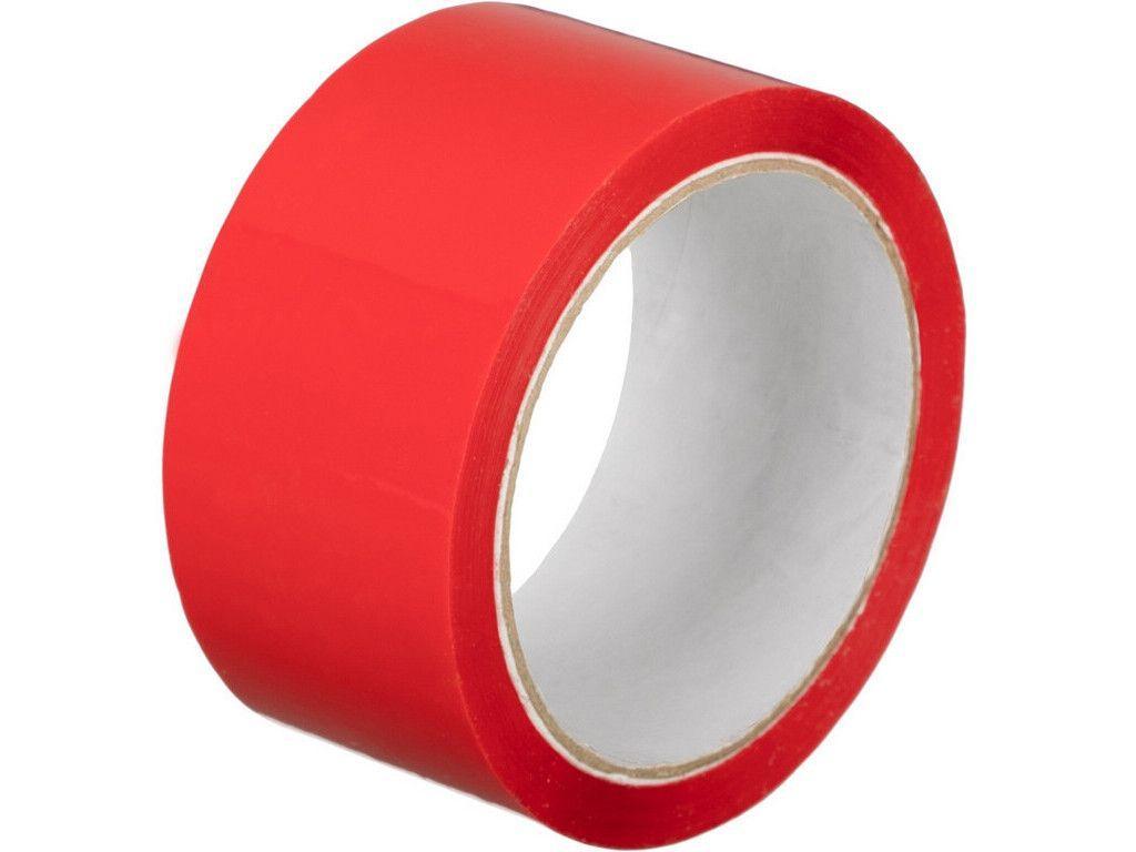 Клейкая лента упаковочная 48 мм х 180 м, красная
