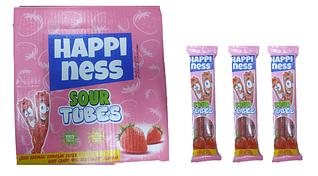 Жев.мармелад Happiness sour Tubes  20 гр Strawberry (24 шт в упаковке)