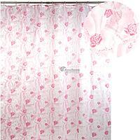 Штора для ванной 020А-21(розовая) (Аквалиния, Россия)