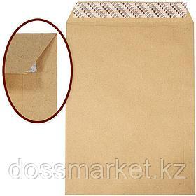 Конверт С4, 229*324мм, коричневый с силикон. лентой, с расширением, боков и донное,90гр. цена за шт.