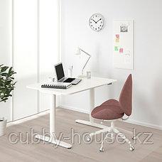 BEKANT БЕКАНТ Стол/трансф, белый, 120x80 см, фото 2