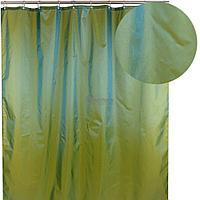 Штора для ванной 026А-09 (зеленая) (Аквалиния, Россия)