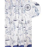 Штора для ванной 029-01 (морская) (Аквалиния, Россия)