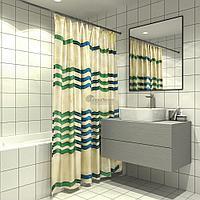 Штора для ванной CFX480P (зигзаг) (Аквалиния, Россия)