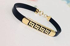 Каучуковый браслет / красное золото - 17 размер