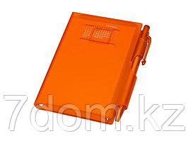 Записная книжка Альманах с ручкой, оранжевый