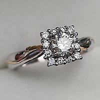 Сертификат IGI 0.60Сt VVS2/K Good-Cut Золотое  кольцо с бриллиантом