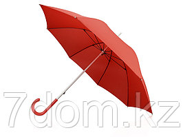 Зонт-трость механический с полупрозрачной ручкой, красный