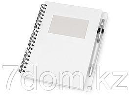 Блокнот Контакт с ручкой, белый