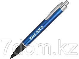 Ручка пластиковая шариковая Glow, синий/серебристый/черный (Р)