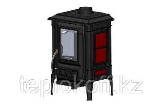 GUCHA Печь-камин чугунная ARINA - 1110 ЭМАЛЬ - DARK RED