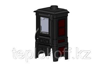 GUCHA Печь-камин чугунная ARINA - 1210 ЭМАЛЬ - DARK RED