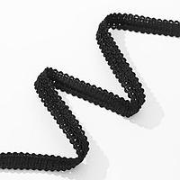 Тесьма декоративная «Шанель», 12 мм, 10 ± 1 м, цвет чёрный