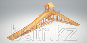 Зимняя горка Савушка Зима Wood-10