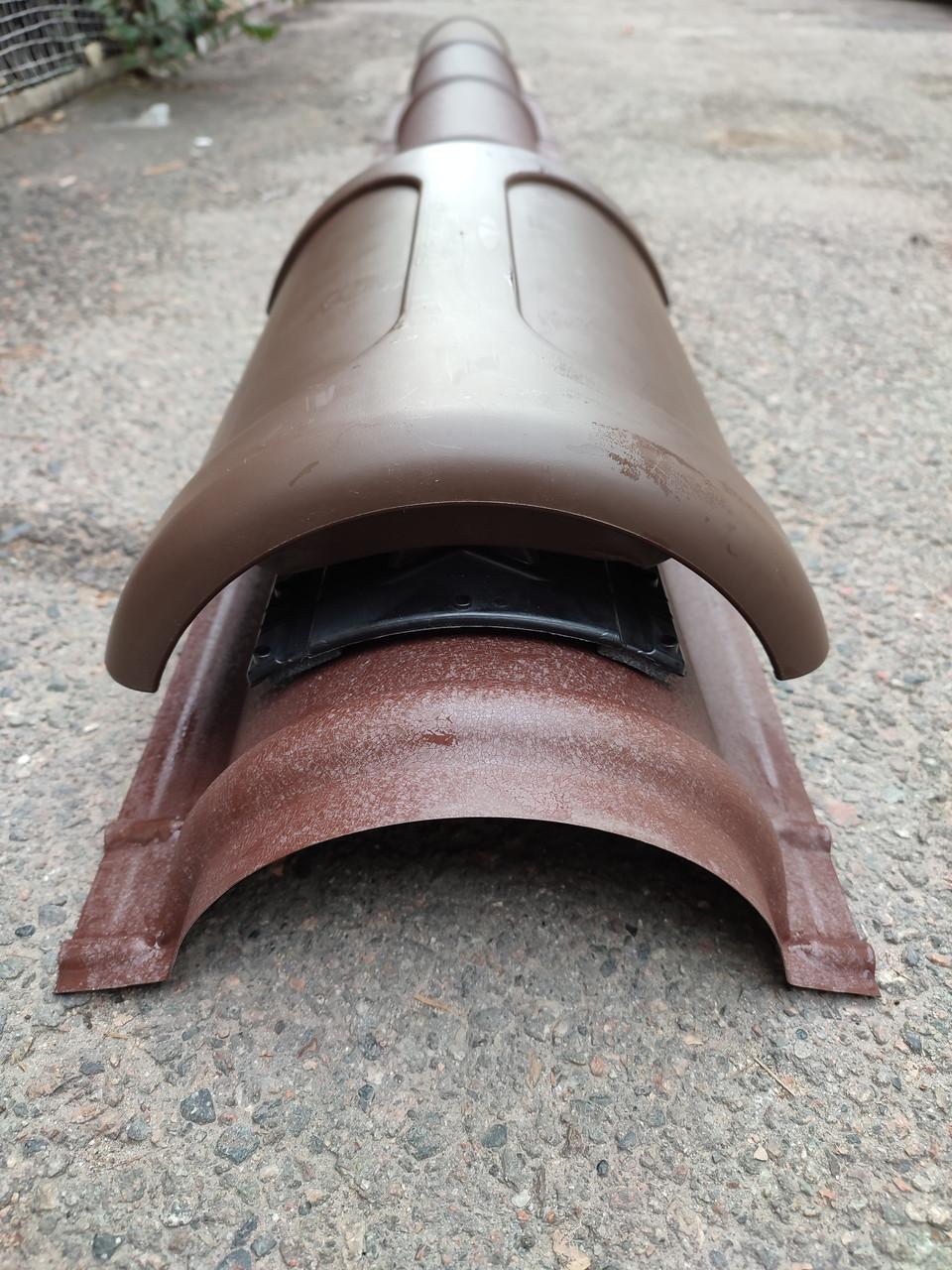 Коньковый вентиль Pelti KTV/harja для металлической кровли Тёмно-Коричневый RAL 8019