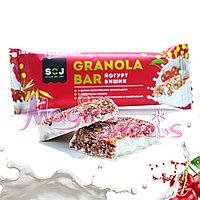"SOJ Батончик злаковый ""GRANOLA BAR"" йогурт и вишня 40 гр./ Упаковка 20 шт., фото 1"