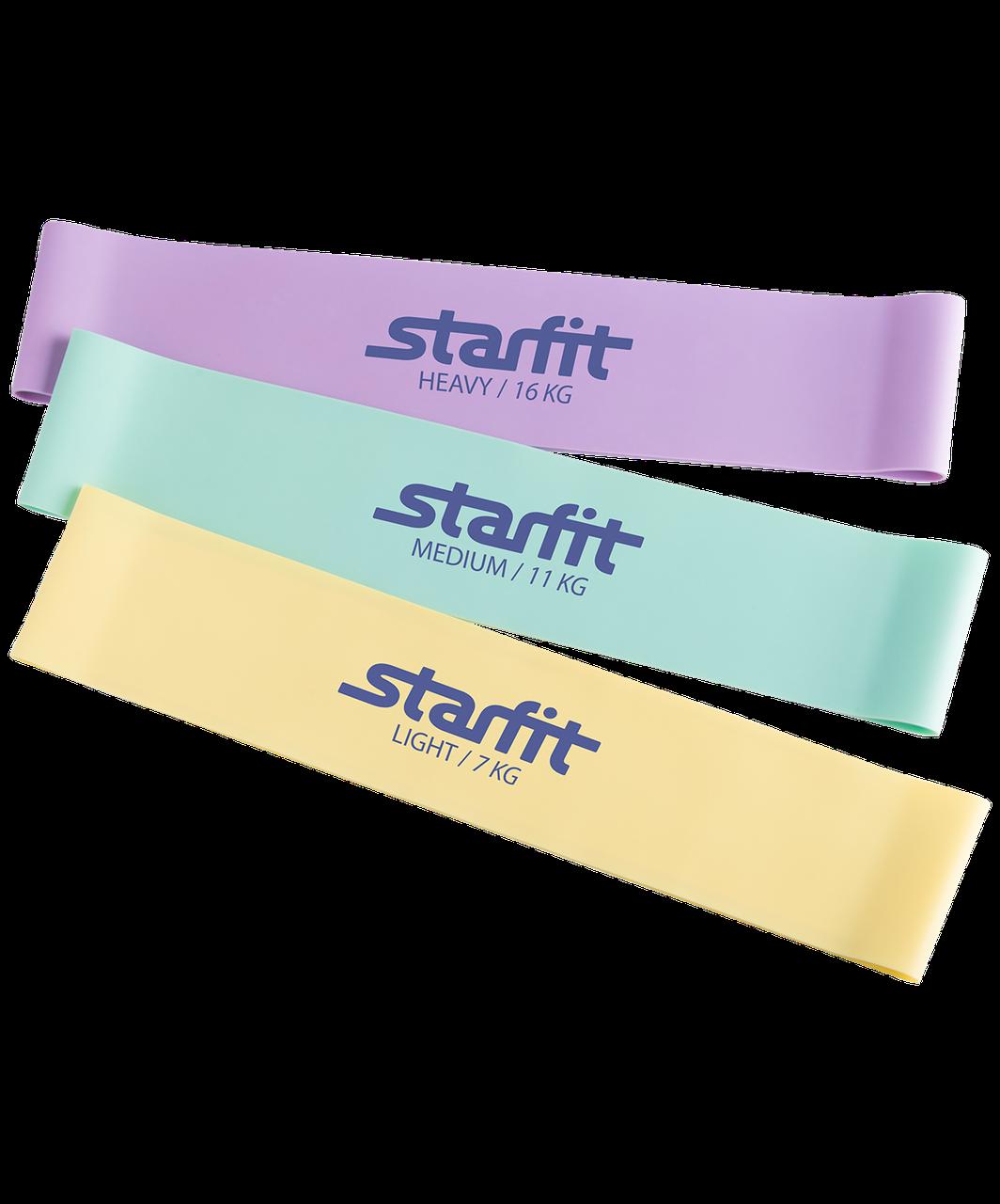 Фитнес-резинки ES-203 комплект 3 шт Starfit