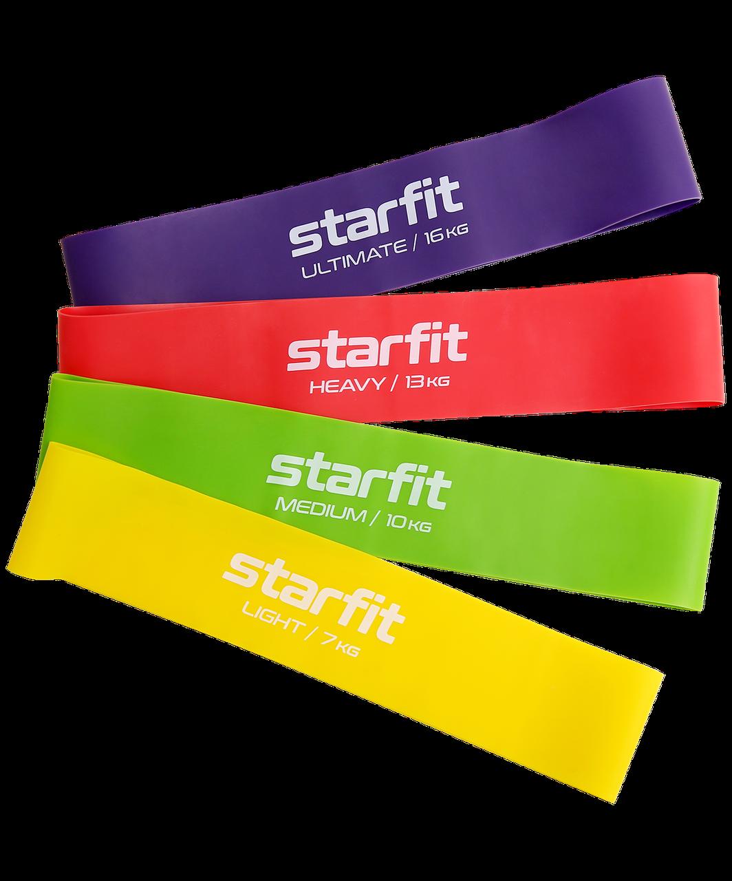 Фитнес-резинки  ES-203  комплект  4 шт Starfit