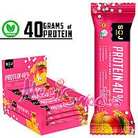 """SOJ Батончик """"PROTEIN SOJ"""" на основе растительных протеинов с манго и апельсином 40 гр./Упаковка 24 шт."""