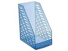 Лоток вертикальный STAMM XXL, ширина 16 см, прозрачный голубой