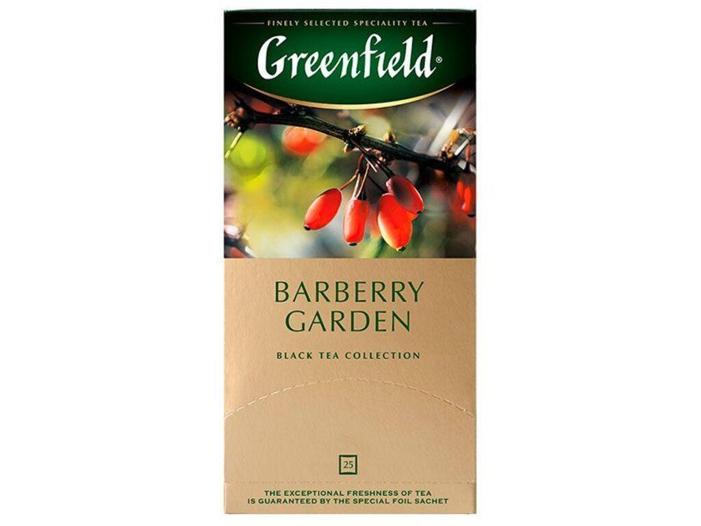 Чай Greenfield Barberry Garden черный с барбарисом, 25 пакетиков