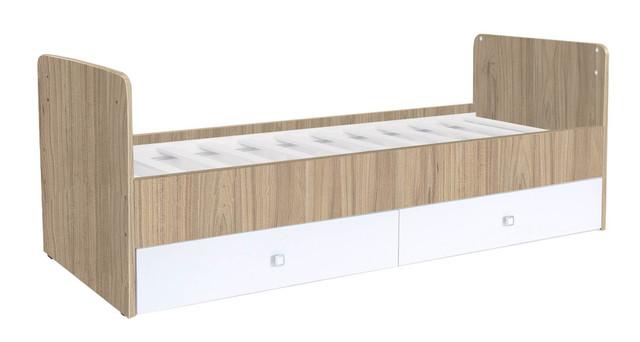 Кроватка трансформер Фея 1100 вяз/белый