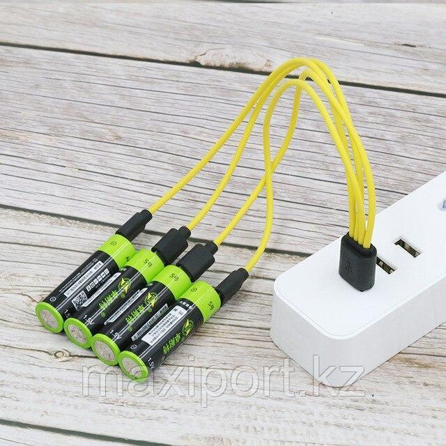 Аккумуляторы ZNTER АА 1700 Mah 1,5v Li-Po зарядка через microUSB литиевые 4шт НОВИНКА