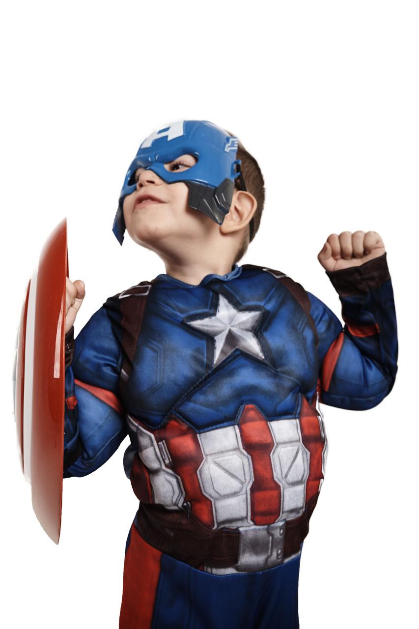Костюм Капитан Америка(+щит), M (110-125)
