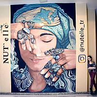 Эскиз росписи стены