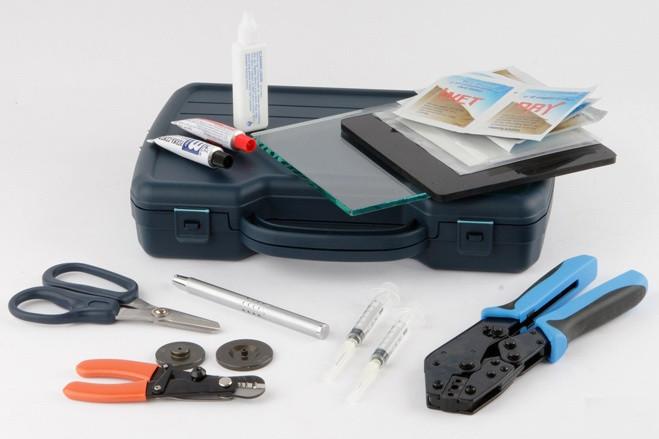 HT-K3032 - Набор инструментов для монтажа оптических коннекторов