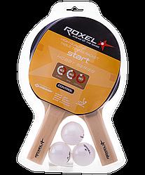 Набор для настольного тенниса Hobby Start, 2 ракетки, 3 мяча Roxel