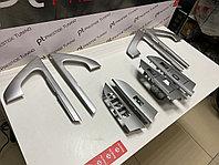 Накладки на дверные ручки в салон (серебро) на Toyota Land Cruiser 200 2007-2020 дизайн 2020, фото 1