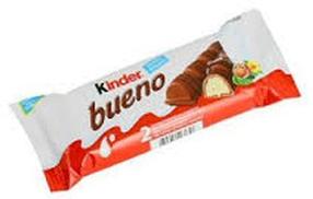 KINDER шоколадный батончик молочный, вафли 43 г