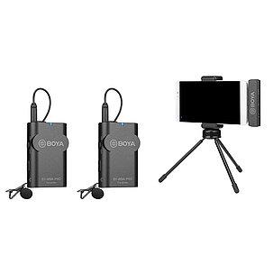 BOYA BY-WM4 PRO-K4  ДВОЙНОЙ Беспроводной петличный микрофон для iPhone, IOSc, фото 2