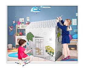 Игровой домик раскраска, фото 3
