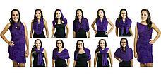 Шарф трансформер, цвет лиловый, фото 3