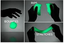 Умный пластилин светящийся в темноте PUTTY, цвет зеленый, фото 2