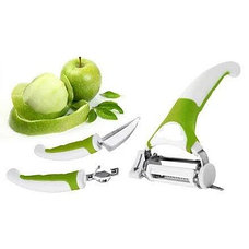 Набор кухонных ножей Triple Slicer 3 предмета, фото 3