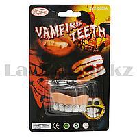 Накладные зубы с инкрустацией на Хэллоуин без клыков SYZ-0605А серебряные