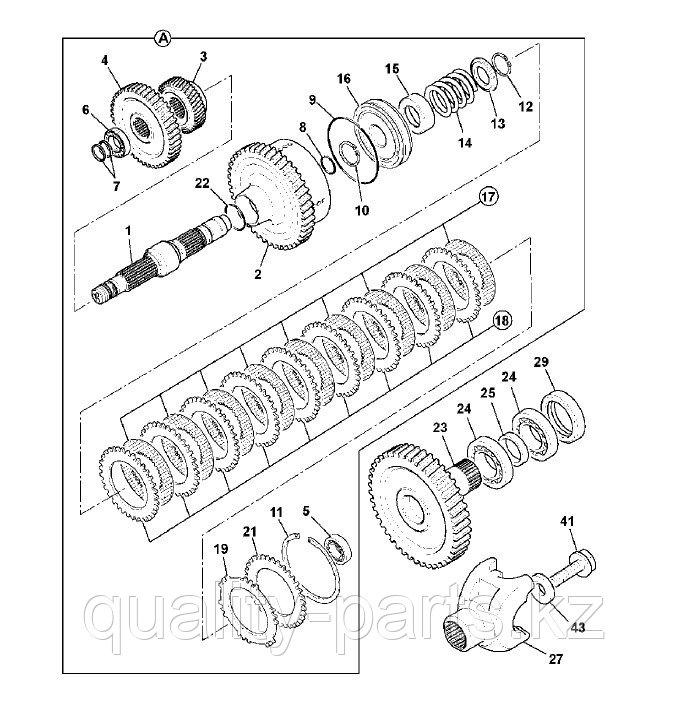Фрикционы тормозные на экскаватор-погрузчик Hidromek 102B, 102S
